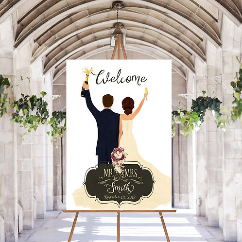 UNIQUE WEDDING WELCOME SIGN