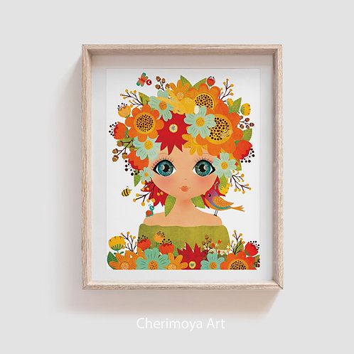 FLOWER GIRL WALL ART
