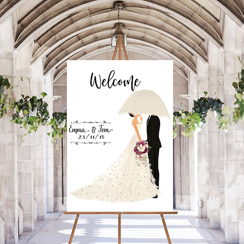 PERSONALISED WELCOME WEDDING SIGN