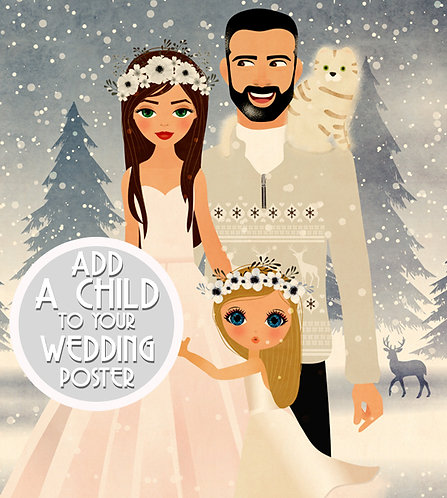 ADD A CHILD TO YOUR WEDDING POSTER