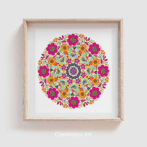 MANDALA  OF FLOWERS