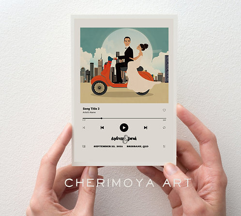 CUSTOM SPOTIFY ILLUSTRATED SAVE THE DATE