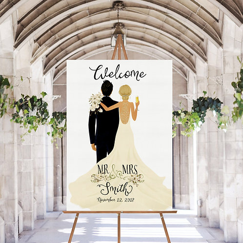 UNIQUE PERSONALISED WEDDING WELCOME SIGN