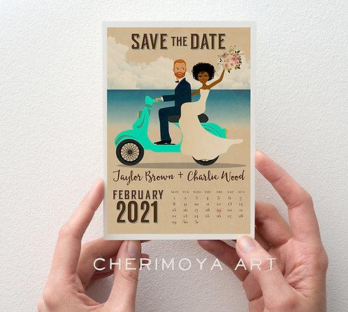 CUSTOM ILLUSTRATED DESTINATION SAVE THE DATE