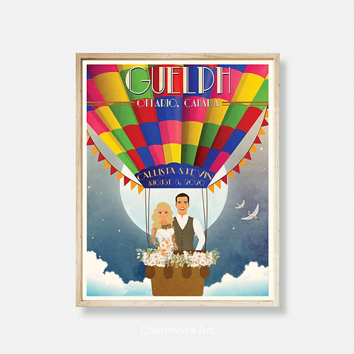 INTO THE CLOUDS -  CUSTOM WEDDING POSTER
