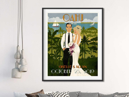 Getaway Wedding Illustrations Inspiration!