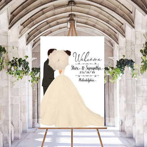UNIQUE WELCOME WEDDING SIGN