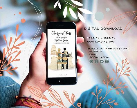 CHANGE OF PLAN - WEDDING DATE