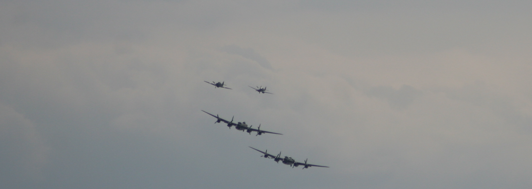 The Lancasters and escort planes
