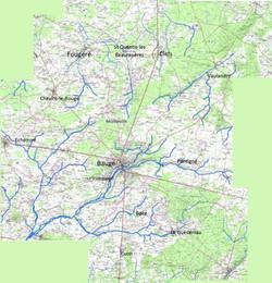 Carte du Baugeois