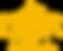une abeille dans une alveole héxagonale. l'ensemble représentantle logo de l'or de la ruche.