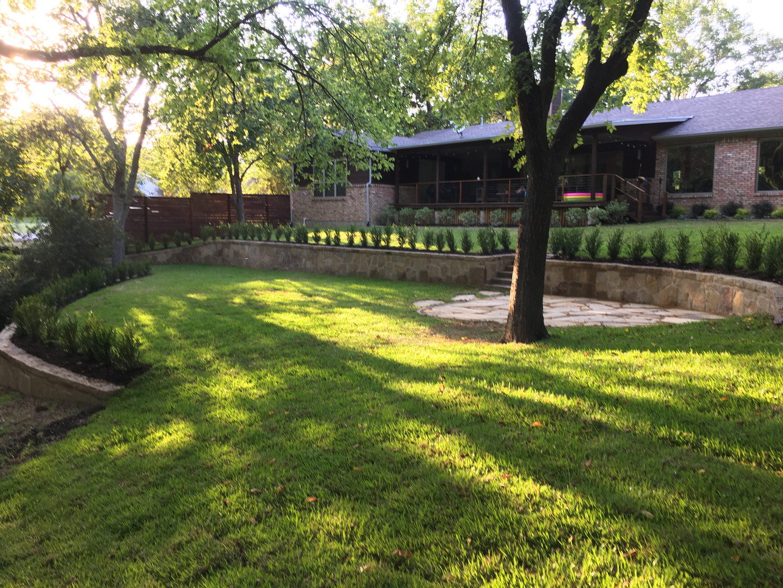 Backyard Retaining Wall & landscaping Build