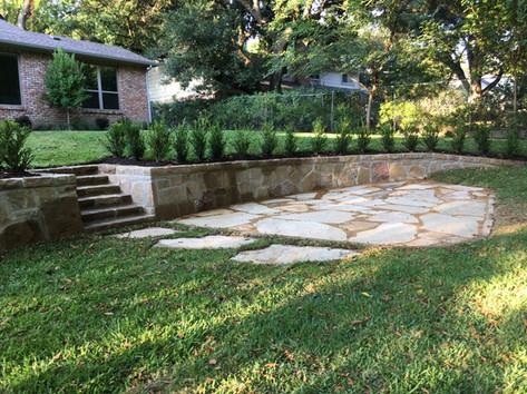 Retaining Wall & Patio Construction
