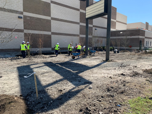 Commerical Landscape Installation for Nationwide Construction