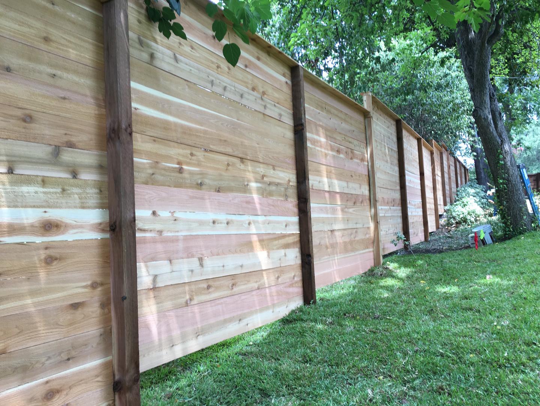 New Horizontal Cedar Fence
