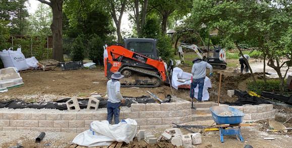 Two Tier Retaining Wall Progress