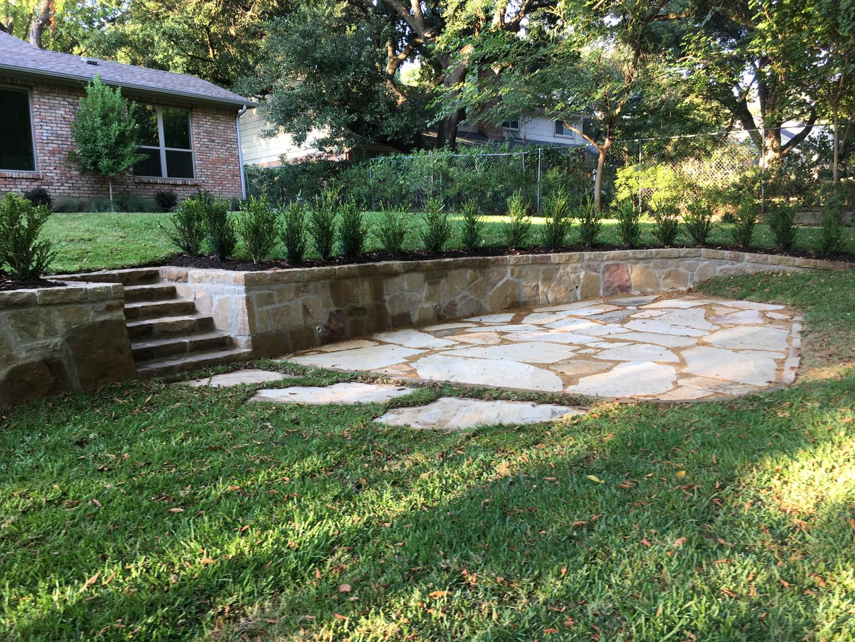 Backyard Retaining wall and patio