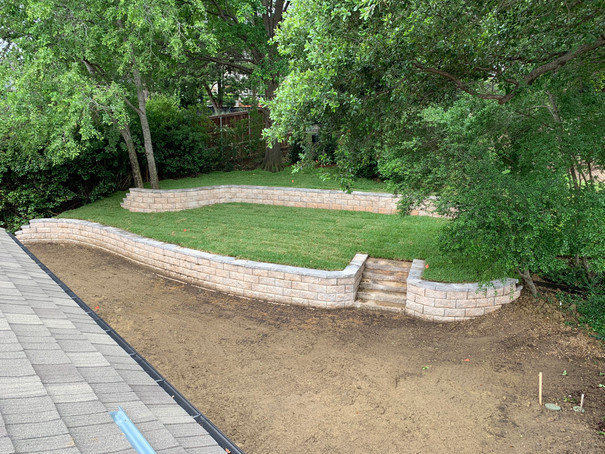 Belgard retaining Wall Installation