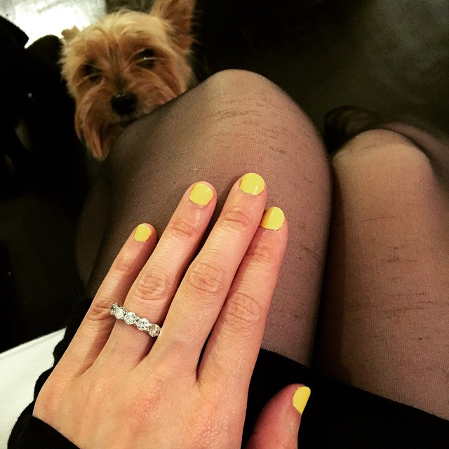 #elvis Approved of the #yellow For The #weekend #butterlondon #cheekychops #colors #manicure #ghmani