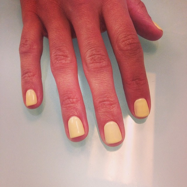 #fun #CND #shellac #summer #sunbleached #yellow #manicure #ghmanicure #pamperedsoles