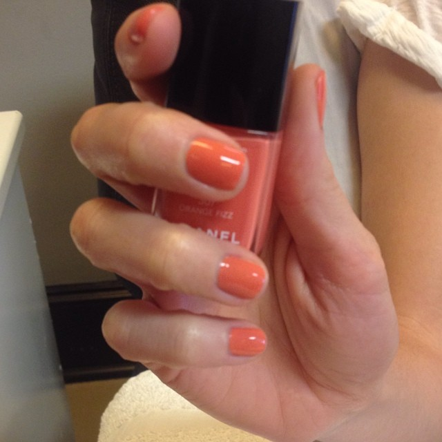 #chanel #orangefizz #manicure #nails #ghmanicure #pamperedsoles
