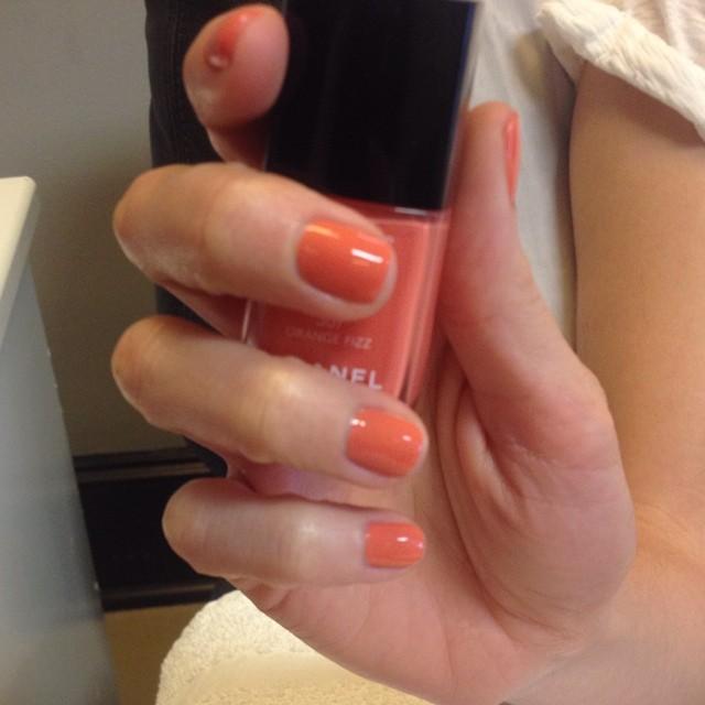 #chanel #orangefizz #manicure #nails #ghmanicure #pamperedsoles