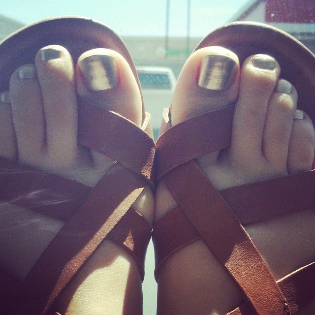 Good As Gold by # essie #loveit #pedicure #pamperedsoles #pamperedsolesdallas