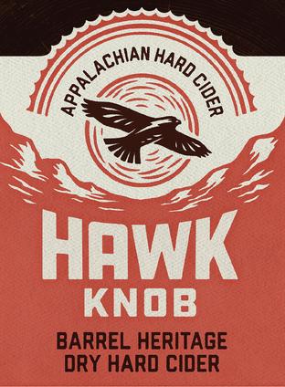 Hawk Knob Bottle Label