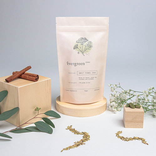 sweet fennel chai grocery/retail service case