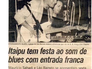 Leo Barreto é capa do Segundo Caderno do Jornal O Globo - Miller Timer Blues