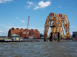 Maintenance begins to prepare for removal of Section Six of the Golden Ray wreck