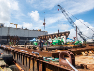 Barge preparations continue