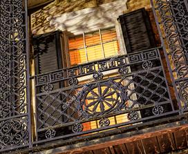 1104 Night Balcony Ironwork 01