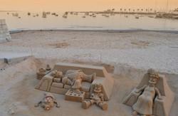 famille simpson a la plage monochrome (2