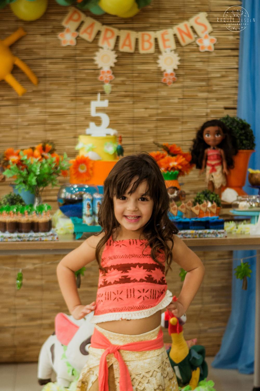 fotos festa infantil princesa da disney moana