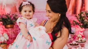 Fotografia Infantil - Aniversário de 1 aninho da Helena