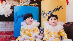 Fotografia Infantil - Aniversário de 1 ano dos gêmeos Benjamim e Joaquim