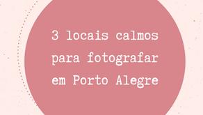 3 locais calmos para fotografar em Porto Alegre