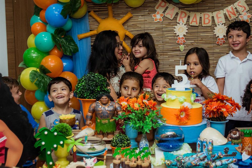 Fotografia festa infantil porto alegre moana disney