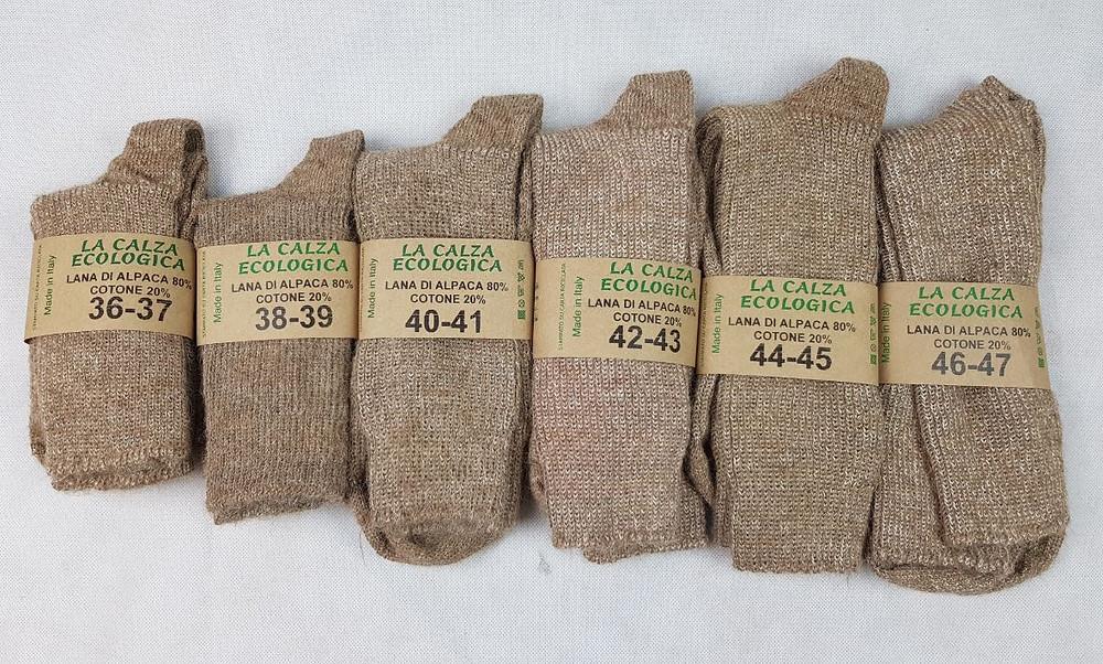 calze naturali alpaca numeri disponibili