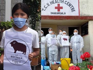 """Abbiamo donato a tutto il TCV di Dharamsala l'occorrente per """"proteggersi"""" dal Coronavirus"""