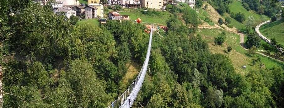 Ponte Tibetano in Valtellina con Degustazione Tipica