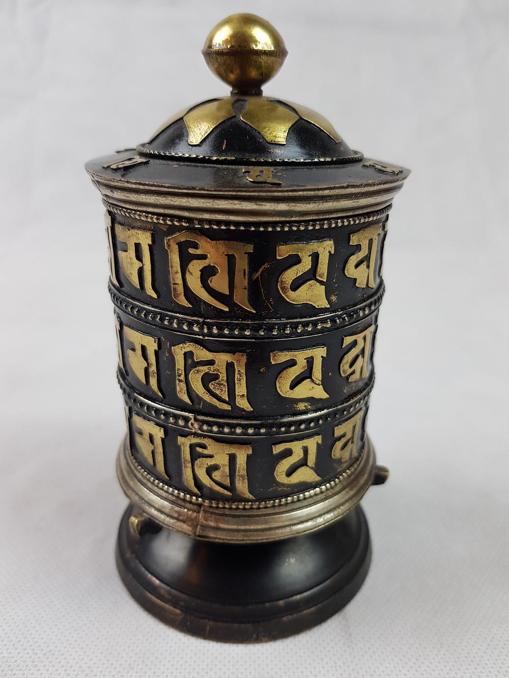 ruota di preghiera tibetana semplice come fatta