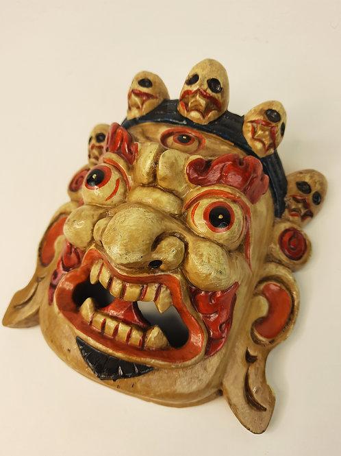 Maschera in Legno Mahakala / Bianca