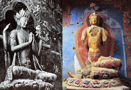 statua senza braccia invasione cina in tibet