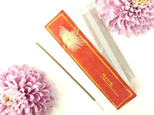 Incenso Mirra / 100% Naturale in Confezione Lokta con fiore Himalayano