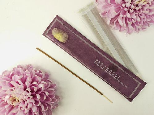 Incenso Patchouli / 100% Naturale in Confezione Lokta con fiore Himalayano
