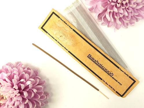 Incenso Sandalo / 100% Naturale in Confezione Lokta con fiore Himalayano