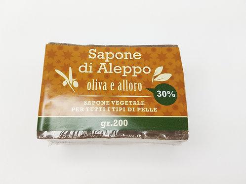 Sapone di Aleppo Olio di Alloro 30%; Olio di Oliva 70%