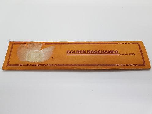 Incenso Golden Nagchampa /100% Naturale in Confezione Lokta con fiore Himalayano